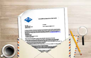 Authorization to test letter image