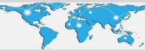 World map them blue