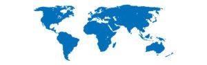 World graphic blue