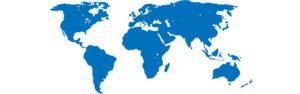 World map theme blue