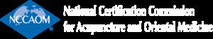 NCCAOM logo with name (blue)