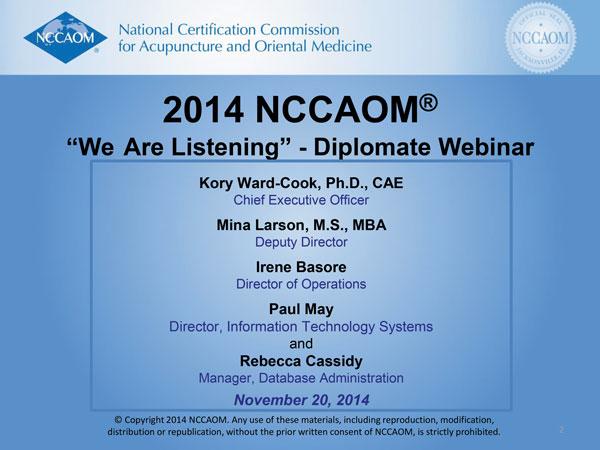 2014_NCCAOM_Diplomate_Webinar preview