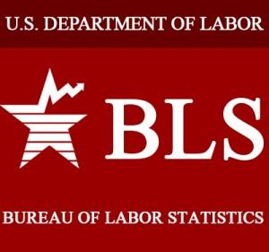 Bureau of Labor and Statistics logo.