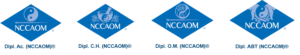NCCAOM Diplomate AC, CH, OM, and ABT