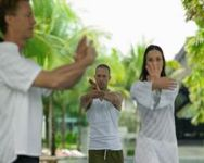 People practicing Qigong