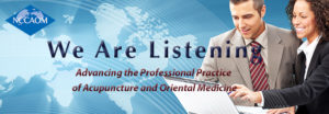 NCCAOM We are Listening banner