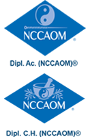 NCCAOM Diplomate of AC and CH logos