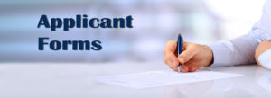 Applicant Forms banner