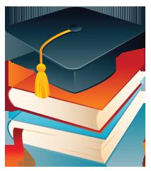 Cap and books icon