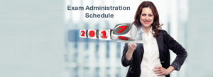 2017 Exam Admin Schedule banner