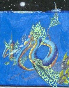 Water dragon image