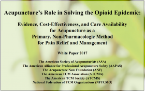 Acupuncture's role in Opioid epidemic
