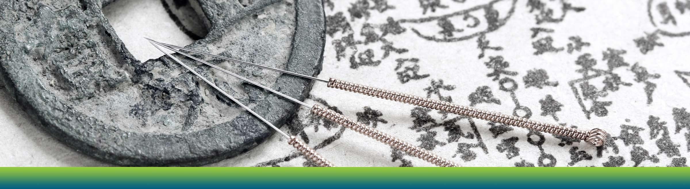 NCCAOM Acupuncture needle hero image.