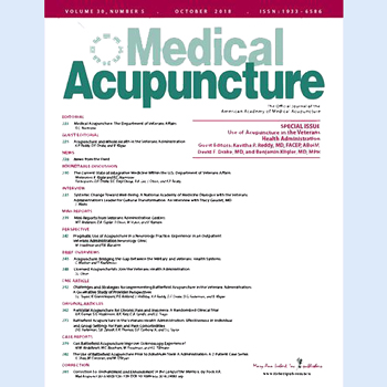 Number of Veterans Affairs Facilities Offering Acupuncture Growing Rapidly Poster