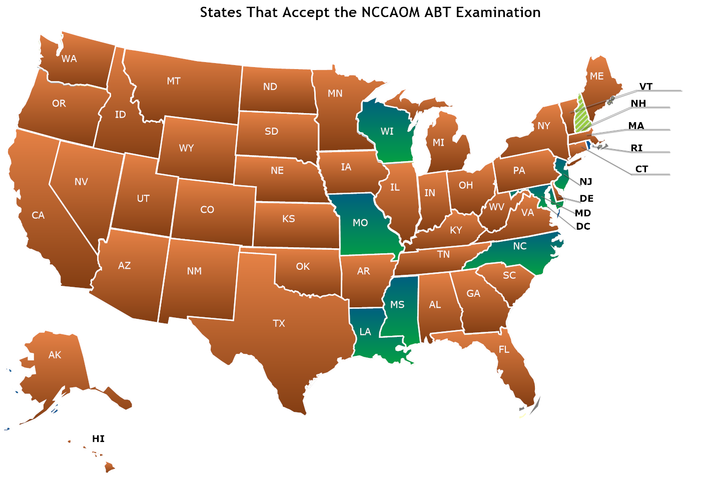 States That Accept the NCCAOM ABT Examination