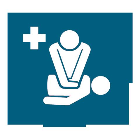 CPR training logo.