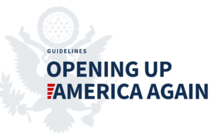 White House Opening Up Amrica Again logo