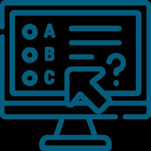 Online test graphic
