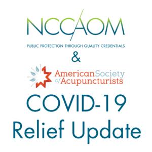 NCCAOM & ASA COVID-19 Relief Update