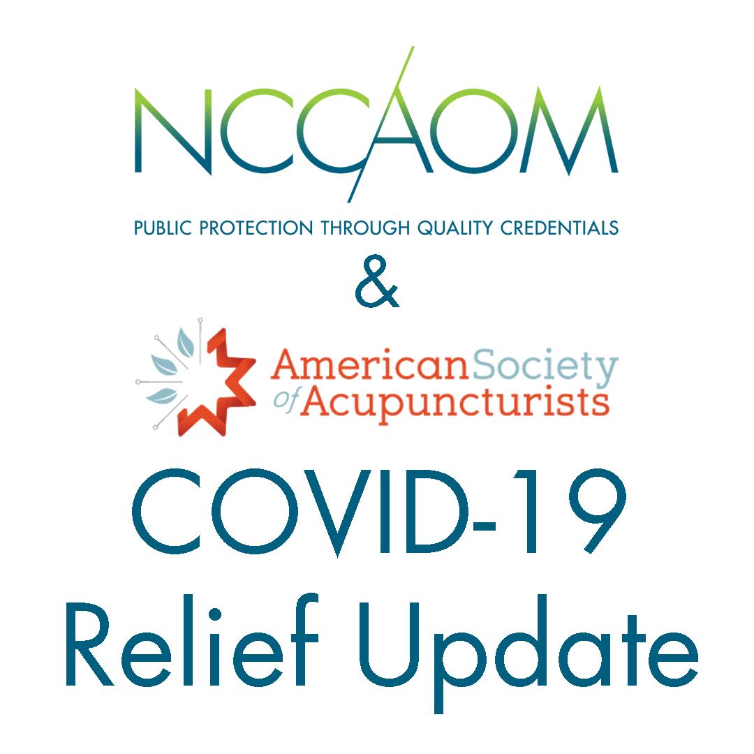 NCCAOM & ASA COVID-19 Relief Update.