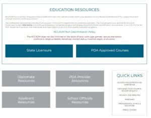 PDA Providers Home Page preview