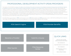 PDA Home page preview